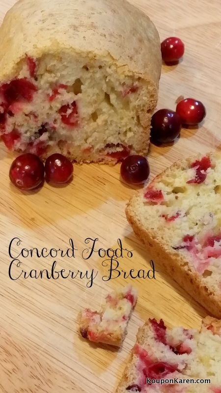 Ocean Spray Cranberry Bread  111 best Recipe Ideas with Concord Foods images on