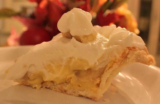 Old Fashioned Banana Cream Pie  Old Fashioned Banana Cream Pie