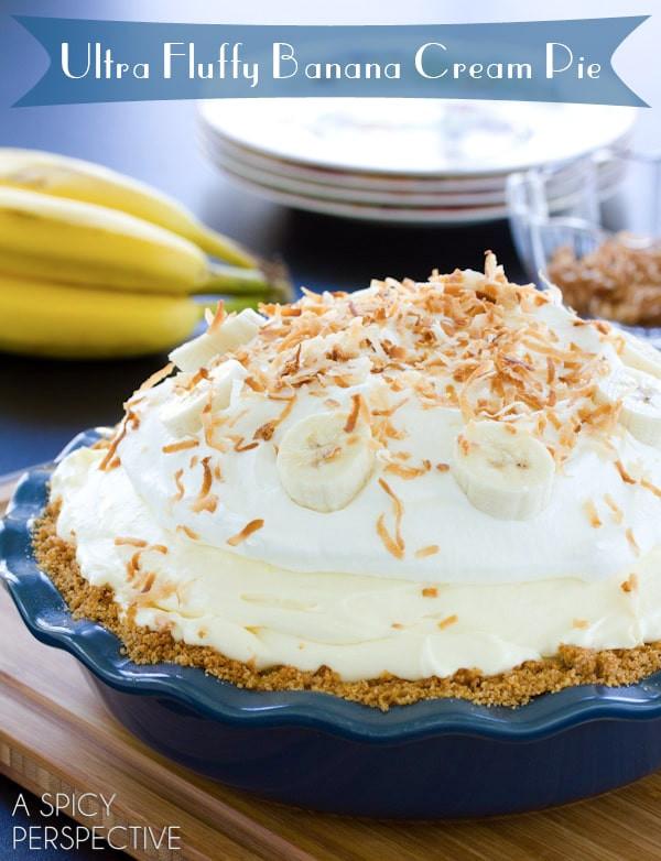 Old Fashioned Banana Cream Pie  old fashioned banana cream pie condensed milk