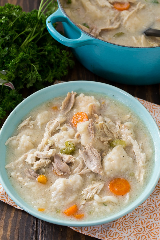 Old Fashioned Chicken And Dumplings Recipe  Old Fashioned Chicken and Dumplings Spicy Southern Kitchen