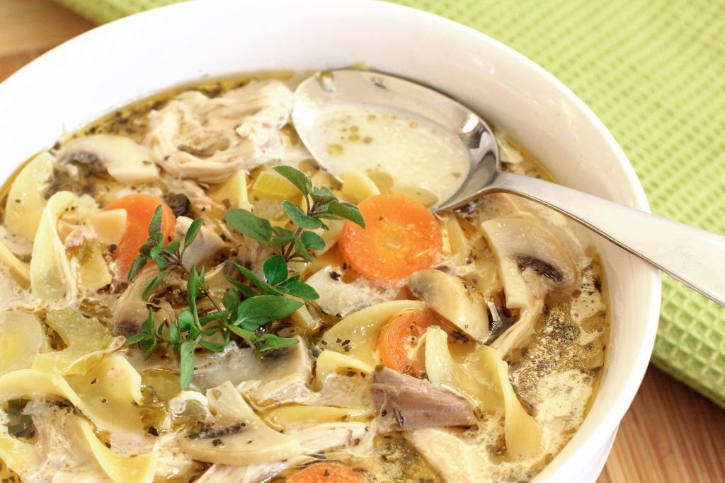 Old Fashioned Chicken Noodle Soup  How to Make Old Fashioned Chicken Soup with Homemade Egg