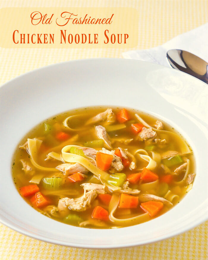 Old Fashioned Chicken Noodle Soup  Old Fashioned Chicken Noodle Soup with a deep rich broth