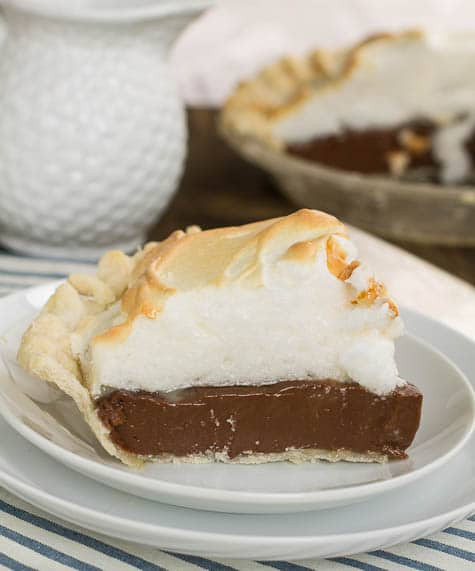 Old Fashioned Chocolate Pie  Old Fashioned Chocolate Meringue Pie Spicy Southern Kitchen
