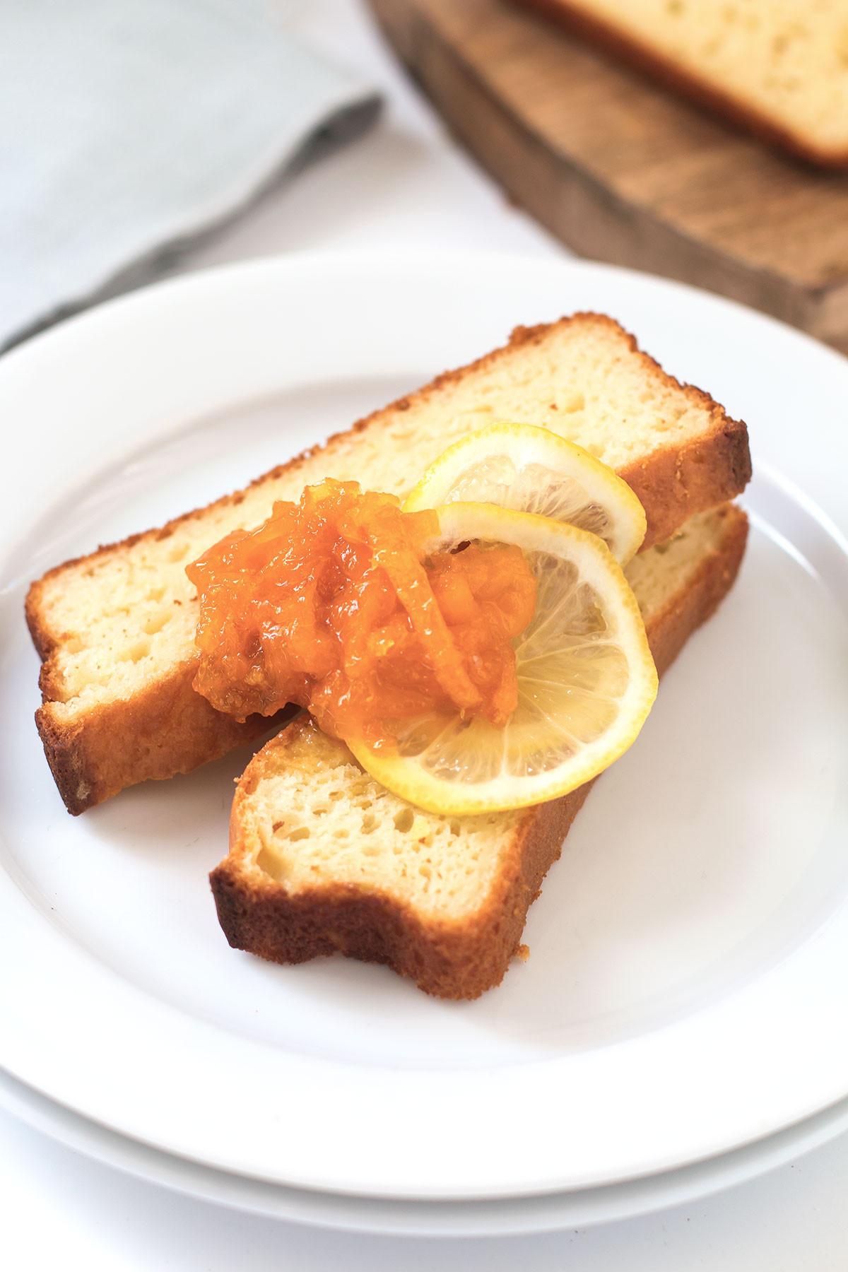 Old Fashioned Lemon Pound Cake  Old Fashioned Lemon Pound Cake with Orange Lemon Marmalade