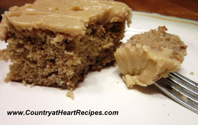Old Fashioned Spice Cake Recipe  Country at Heart Recipes Spiced Nut Cake with Penuche