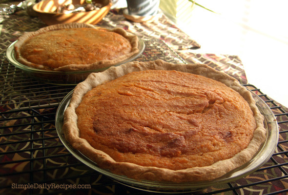 Old Fashioned Sweet Potato Pie  Sweet Potato Pie Recipe from Somewhere Else Simple Daily