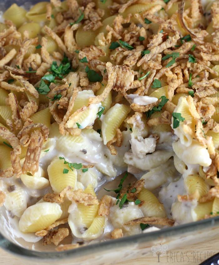 Old Fashioned Tuna Casserole  Tuna Noodle Casserole Erica s Recipes