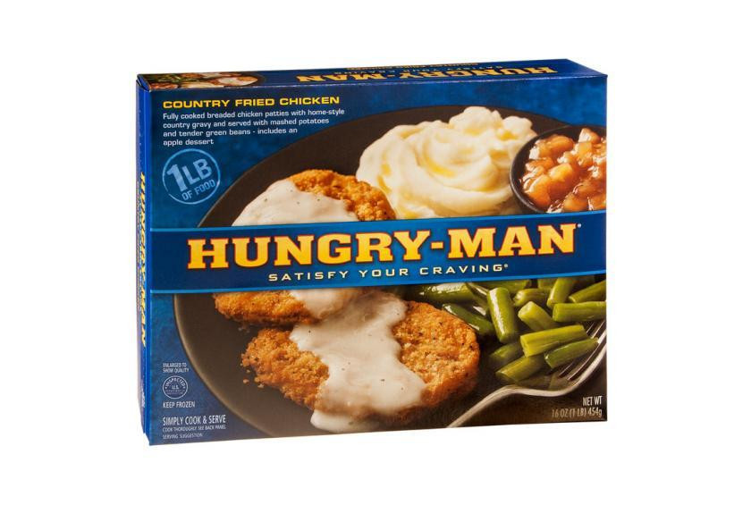 Old Frozen Dinner Brand  Vintage Hungry Man Frozen Dinners to Pin on