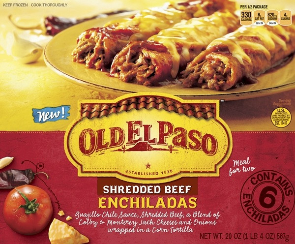 Old Frozen Dinner Brand  New Old El Paso products inspired by Mexico