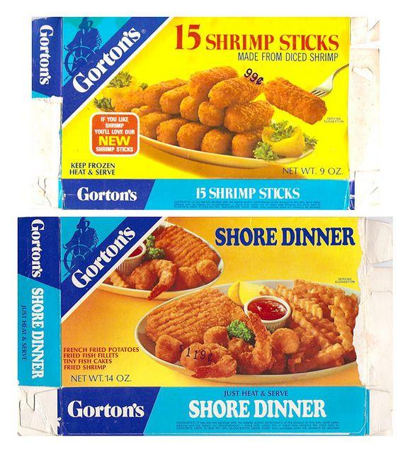 Old Frozen Dinner Brand  Old Gorton s Frozen Fish Dinners Boxes Shrimp