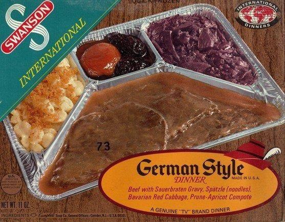 Old Frozen Dinner Brand  Swanson German Style TV Dinner Yum Pinterest