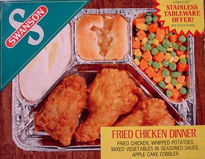 Old Frozen Dinner Brand  Swanson s TV dinner
