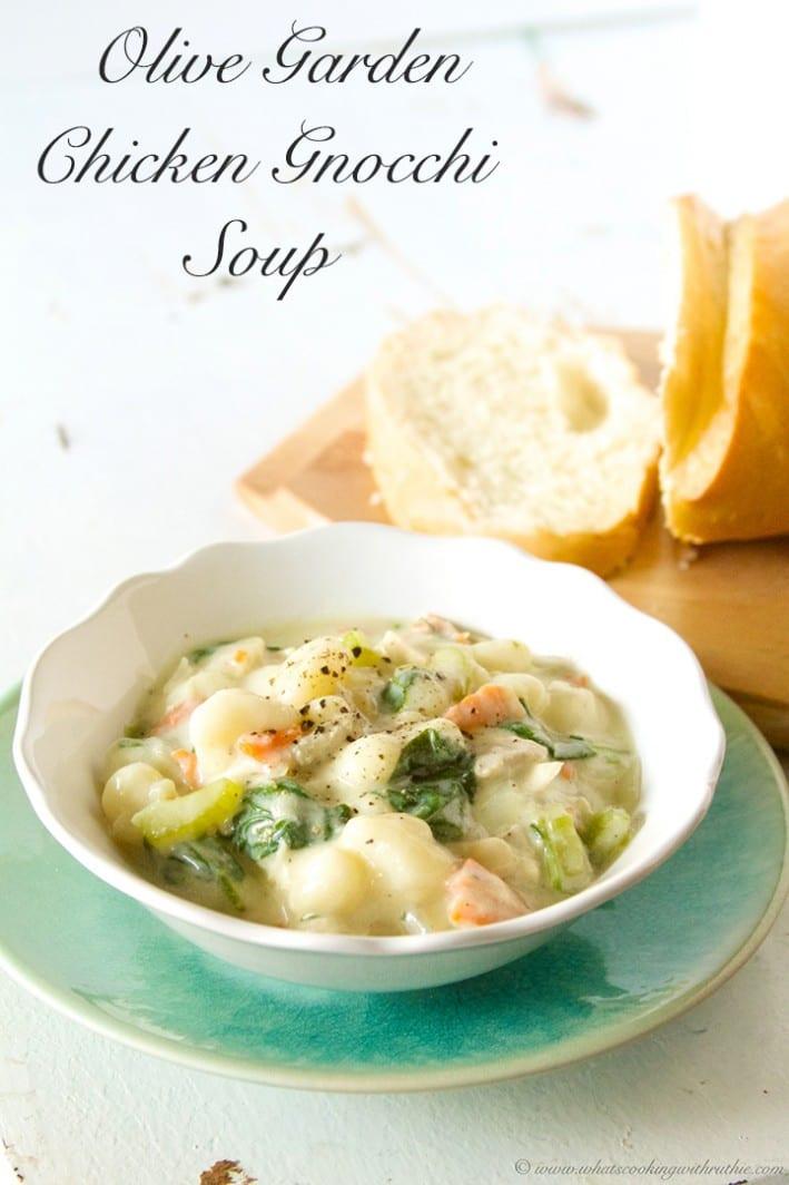Olive Garden Chicken Gnocchi Soup  Olive Garden Chicken Gnocchi Soup copycat Beneath My Heart