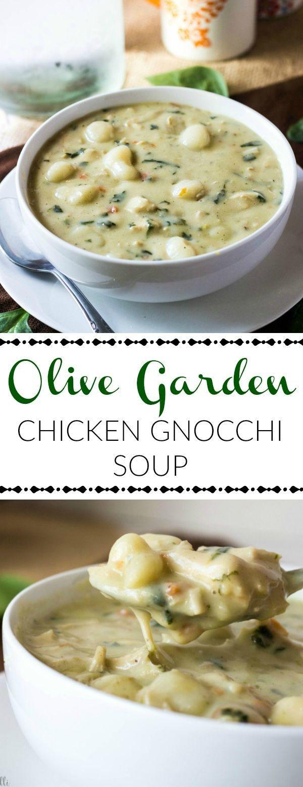 Olive Garden Chicken Gnocchi Soup  This Olive Garden Chicken Gnocchi Soup is a creamy and