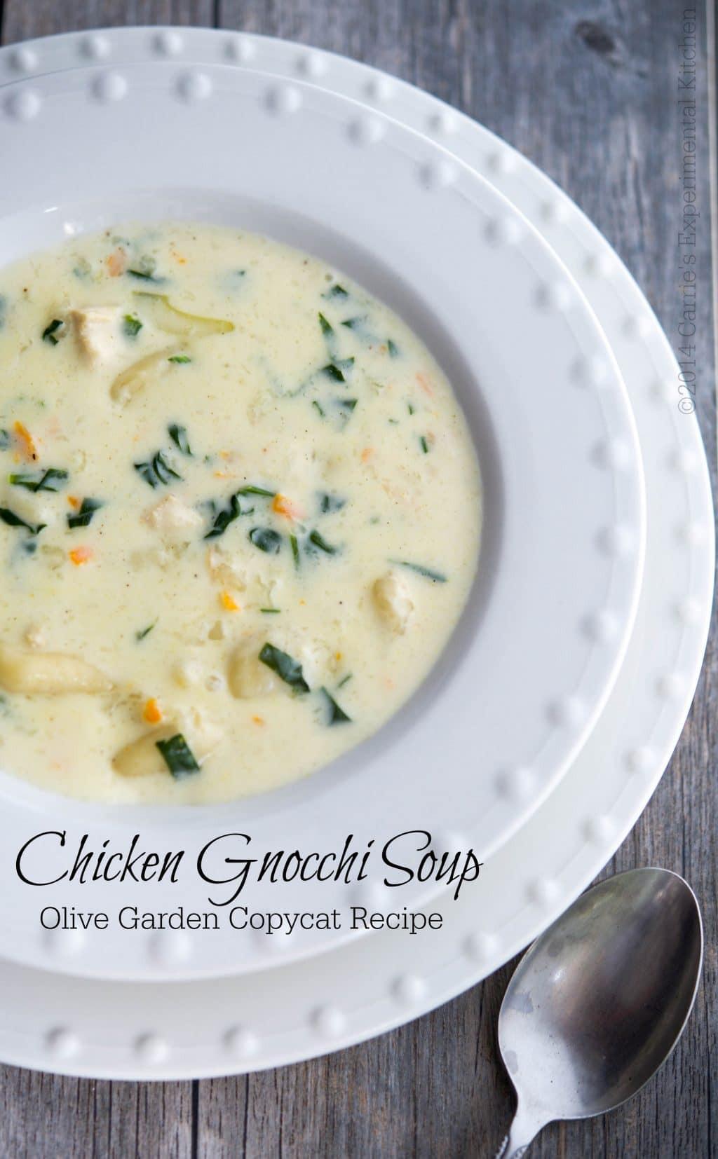 Olive Garden Chicken Gnocchi Soup  Olive Garden Chicken Gnocchi Soup Copycat Carrie's