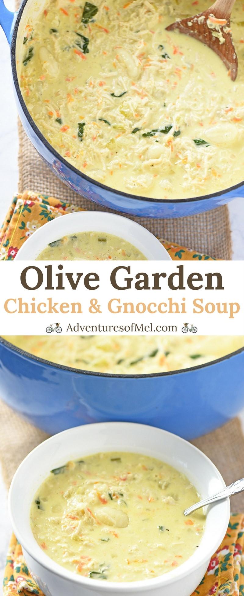 Olive Garden Chicken Gnocchi Soup  Olive Garden Chicken and Gnocchi Soup Copycat