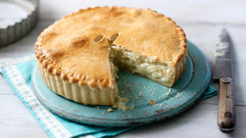 Onion Pie Recipe  Cheese and onion pie recipe BBC Food