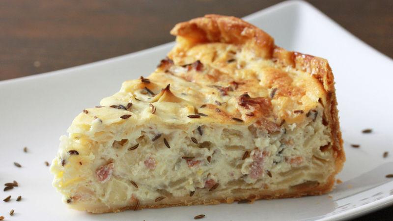 Onion Pie Recipe  German ion and Bacon Pie Zwiebelkuchen Recipe