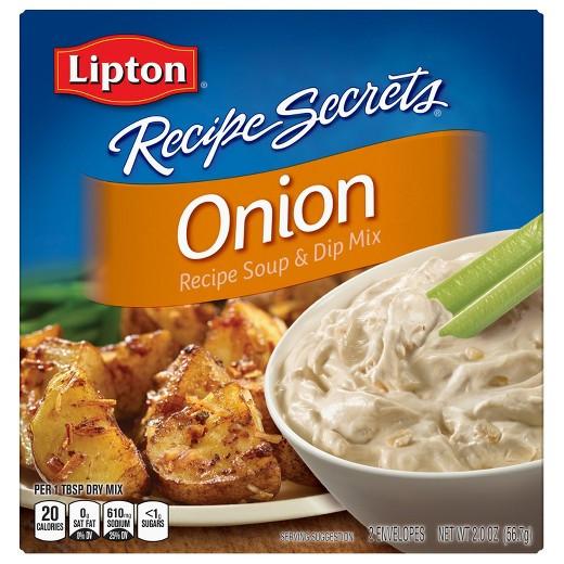 Onion Soup Mix Recipe  Lipton Recipe Secrets Soup & Dip Mix ion 2 oz Tar