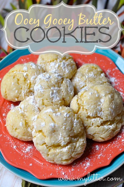 Ooey Gooey Butter Cookies  Ooey Gooey Cookies