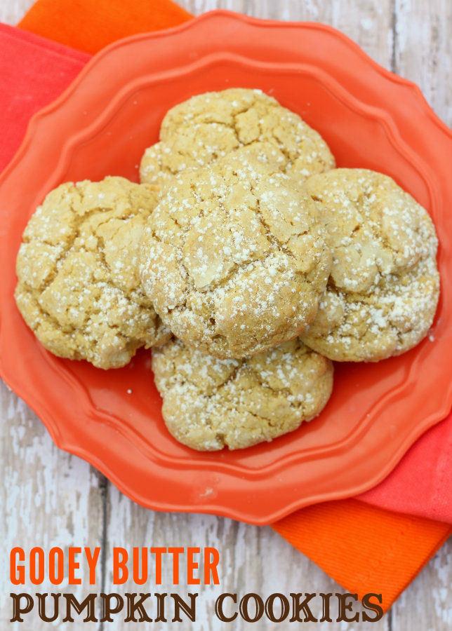 Ooey Gooey Butter Cookies  Gooey Butter Pumpkin Cookies
