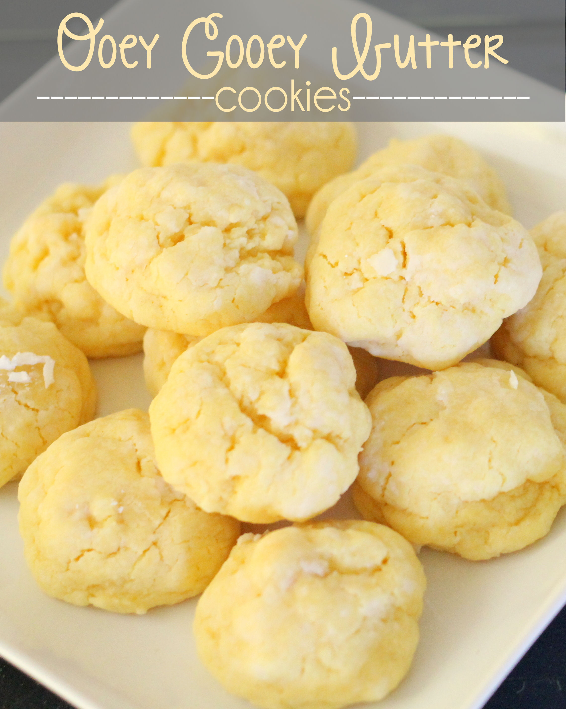 Ooey Gooey Butter Cookies  Gooey Funfetti Sugar Cookies