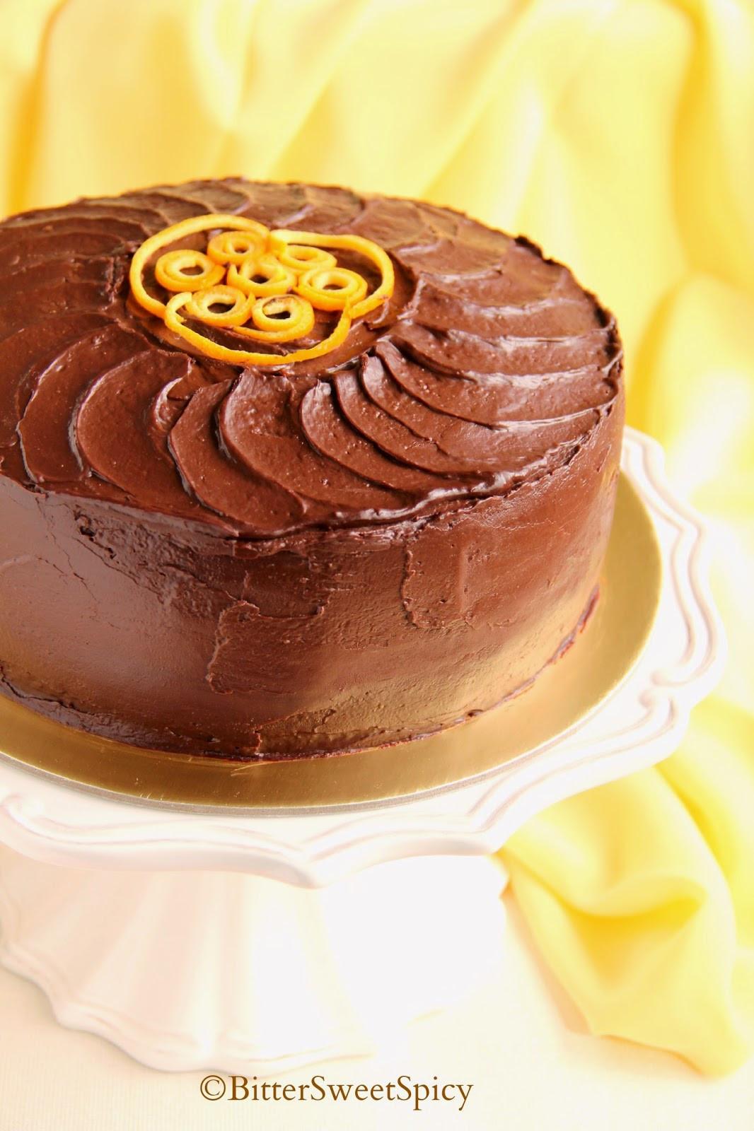 Orange Chocolate Cake  BitterSweetSpicy Dark Chocolate & Orange Cake