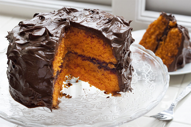 Orange Chocolate Cake  Hidden Dark Chocolate & Orange Cake Recipe