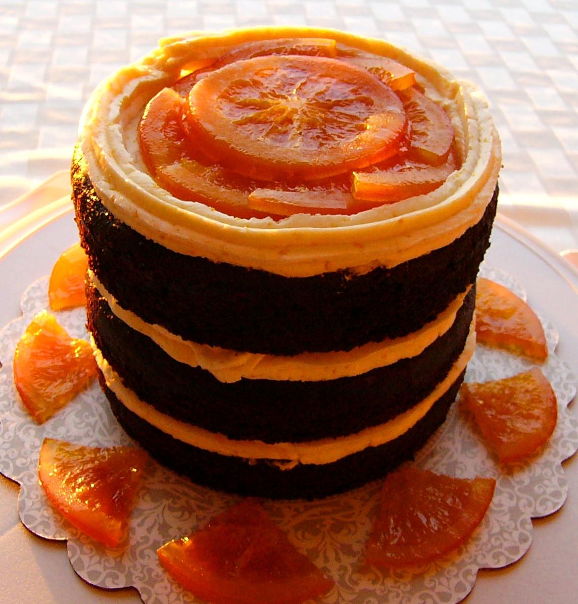 """Orange Chocolate Cake  """"Naked"""" Chocolate Orange Cake"""