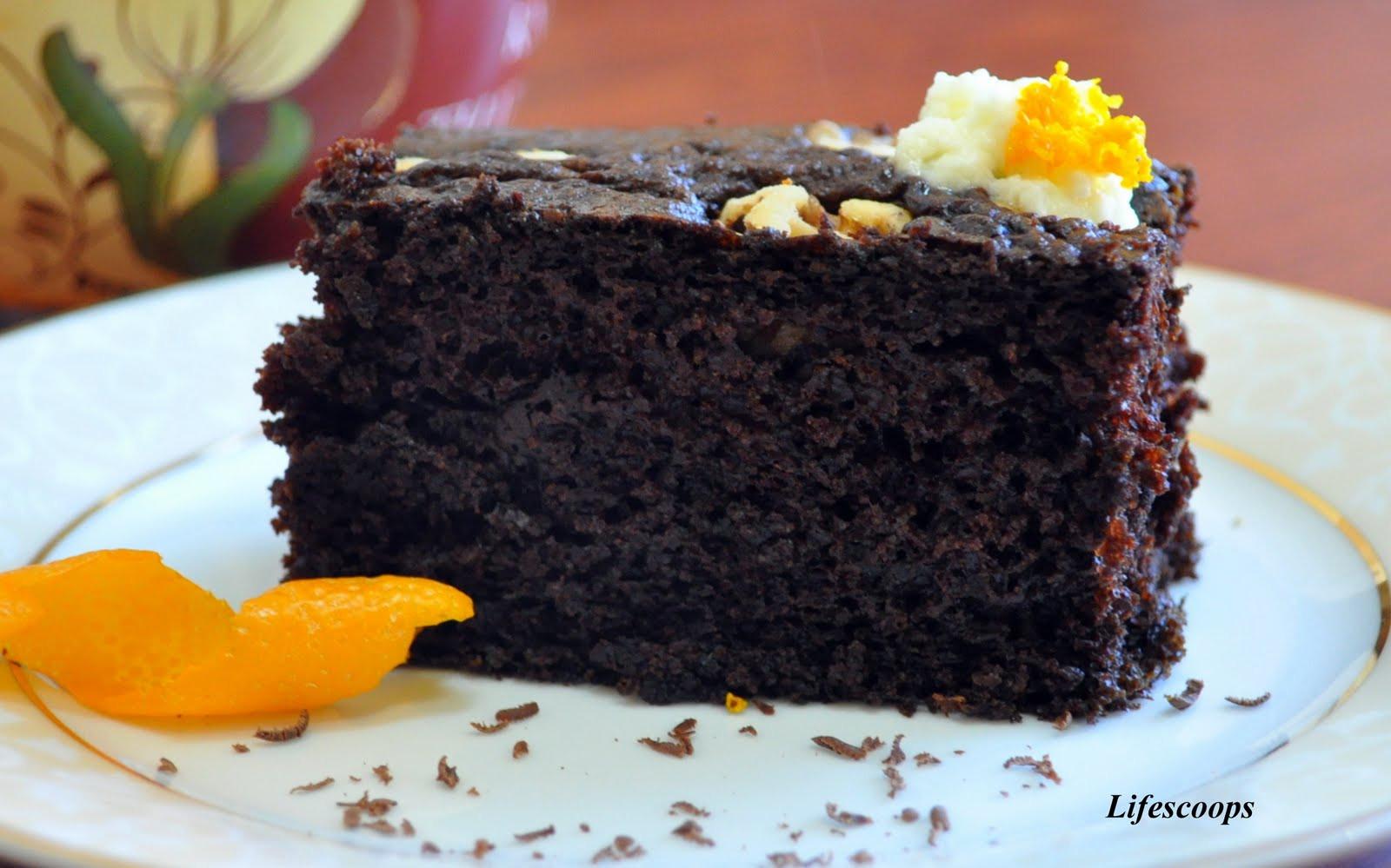Orange Chocolate Cake  Life Scoops Chocolate Orange Cake