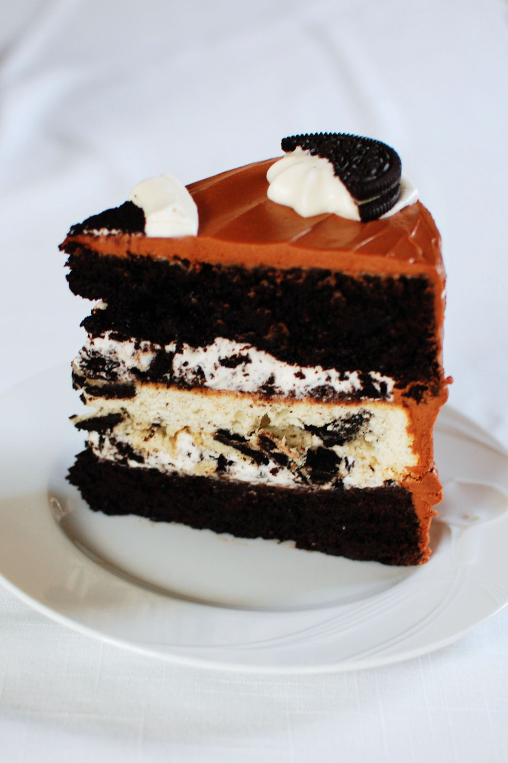 Oreo Cake Recipe  Triple Layer Oreo Cake