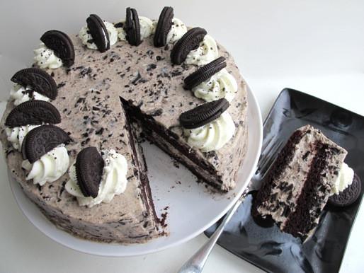 Oreo Cake Recipe  Oreo Cake With Oreo Whipped Cream Frosting Recipe
