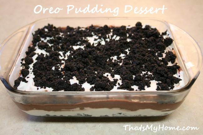 Oreo Cookie Dessert Recipe  Oreo Pudding Dessert Recipes Food and Cooking