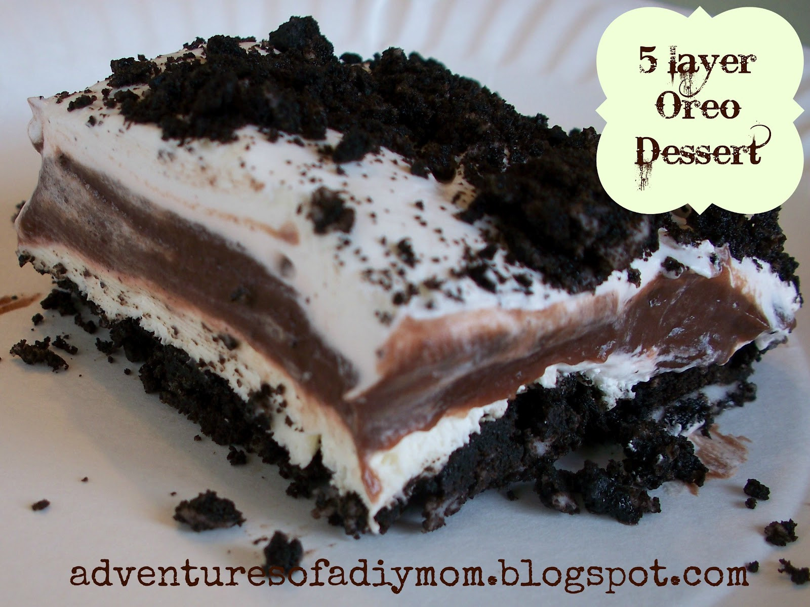 Oreo Dessert Recipes  5 Layer Oreo Dessert Adventures of a DIY Mom