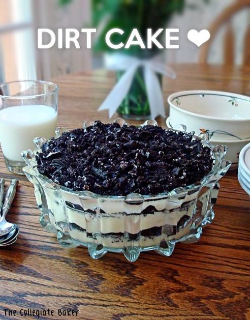 Oreo Dirt Cake Recipe  oreo dirt cake recipe with chocolate pudding