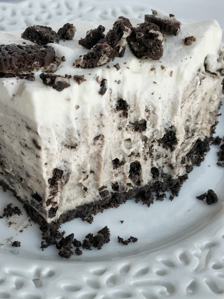 Oreo Pudding Dessert  no bake Triple Layer Oreo Pudding Pie To her as Family
