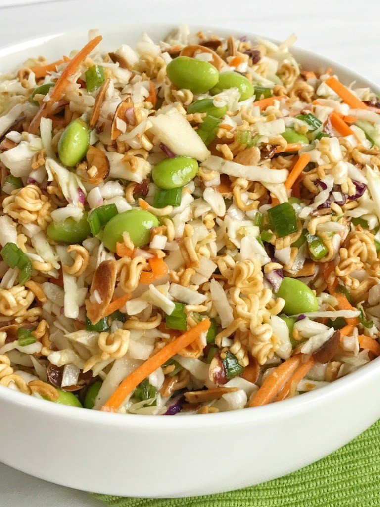 Oriental Salad With Ramen Noodles  Asian Ramen Noodle Salad To her as Family