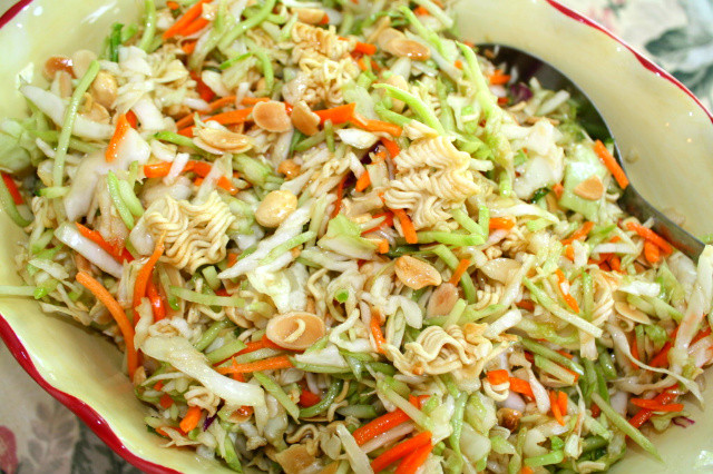 Oriental Salad With Ramen Noodles  Busy Mom Recipes Oriental Salad with Ramen Noodles