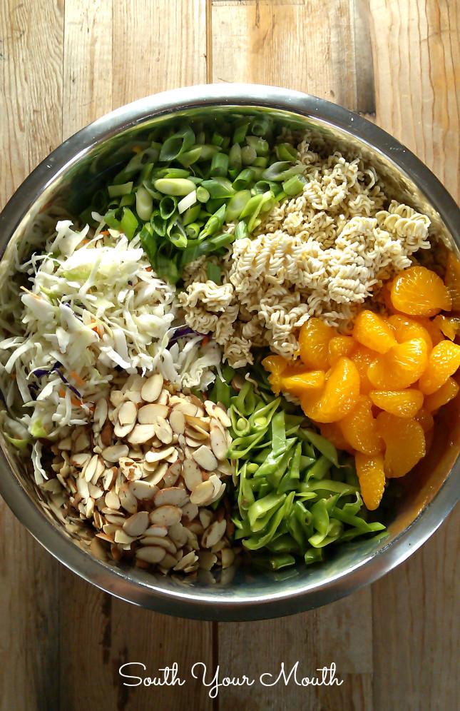 Oriental Salad With Ramen Noodles  South Your Mouth Crunchy Oriental Ramen Salad