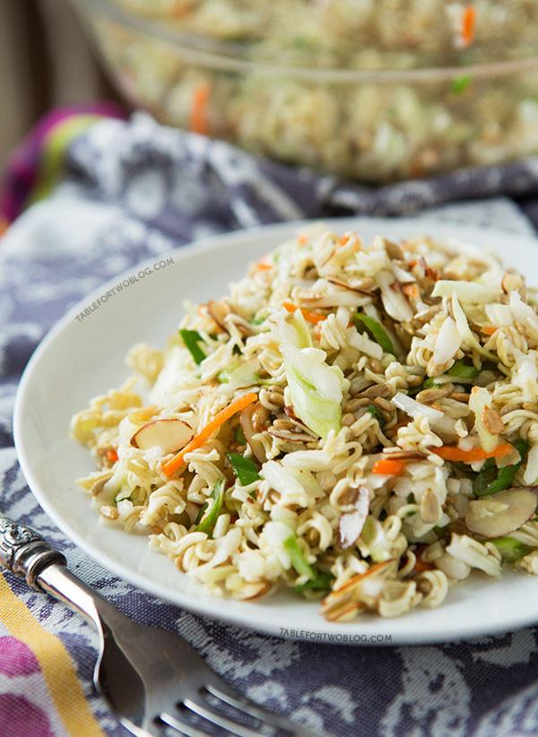 Oriental Salad With Ramen Noodles  Ridiculously Amazing Asian Ramen Salad Chilled Ramen Salad
