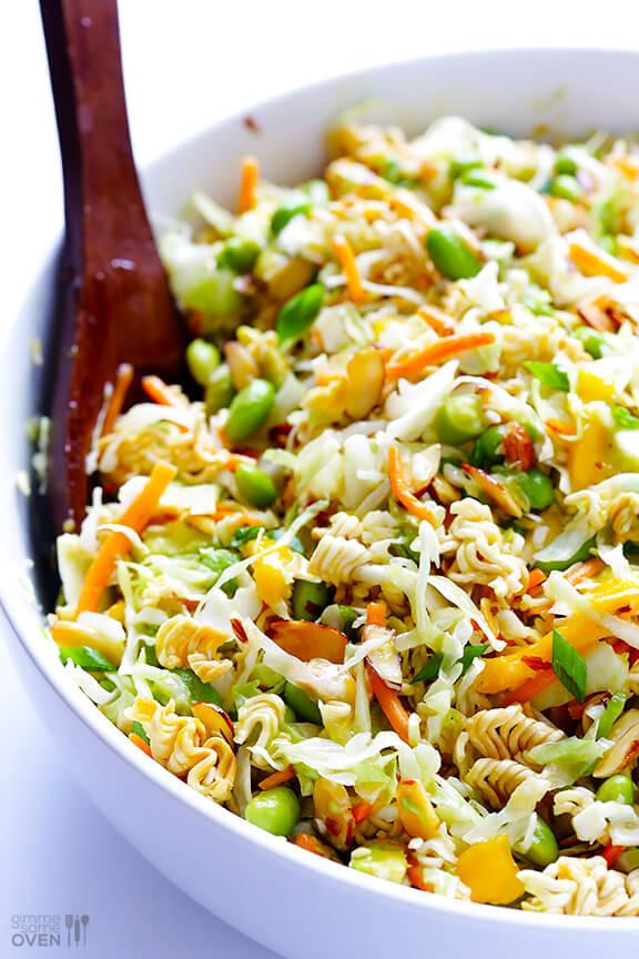 Oriental Salad With Ramen Noodles  Crunchy Asian Ramen Noodle Salad