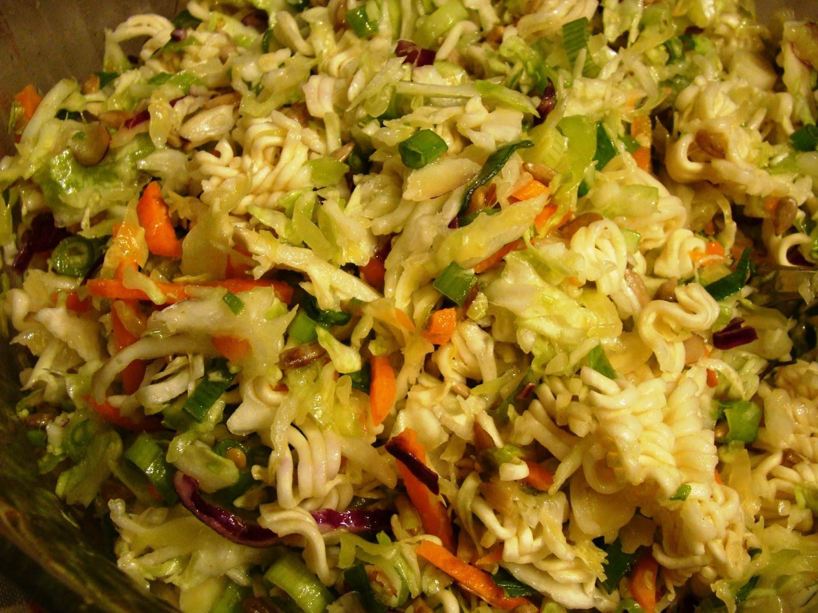 Oriental Salad With Ramen Noodles  Soup Spice Everything Nice Oriental Ramen Noodle Salad