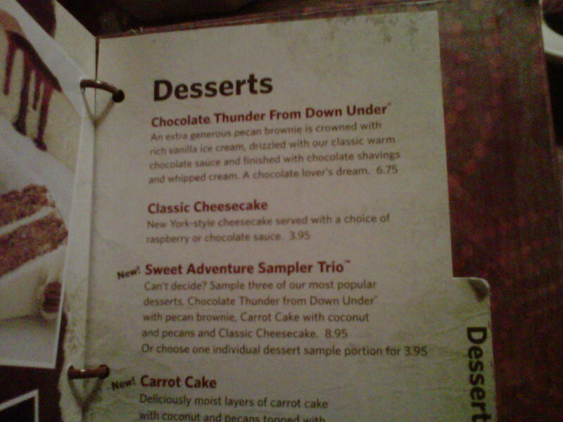 Outback Desserts Menu  Outback Dessert Menu Related Keywords Outback Dessert