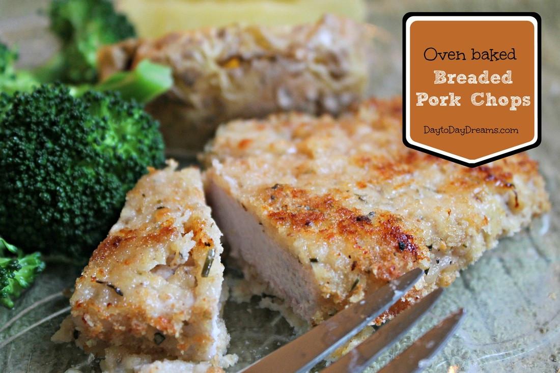 Oven Baked Breaded Pork Chops  Oven Baked Breaded Pork Chops