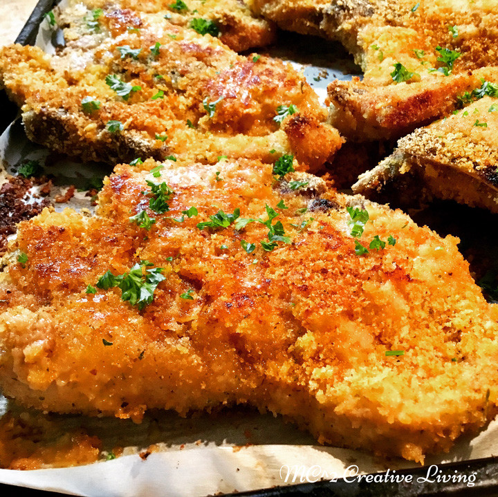 Oven Baked Breaded Pork Chops  Easy recipe food blog from Mario and Colin