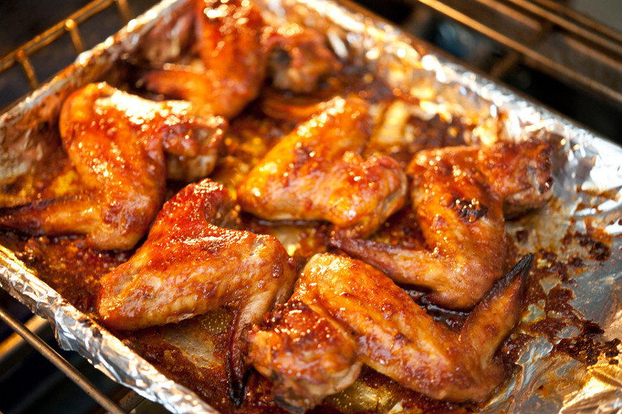 Oven Baked Chicken  Oven Baked Wings with Sweet BBQ Sauce
