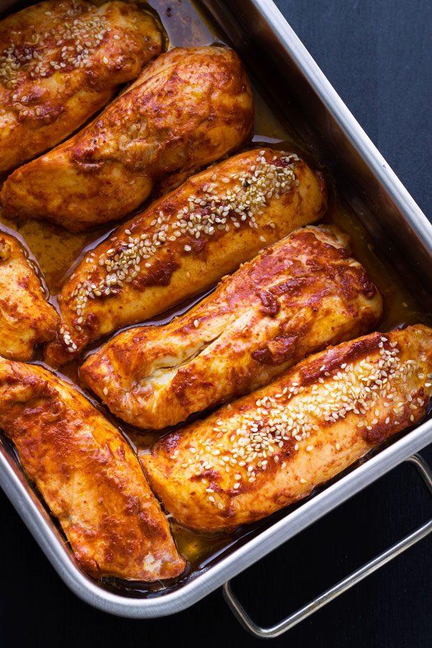 Oven Baked Chicken Breast Recipe Roasted Harissa Chicken Breasts Recipe — Eatwell101