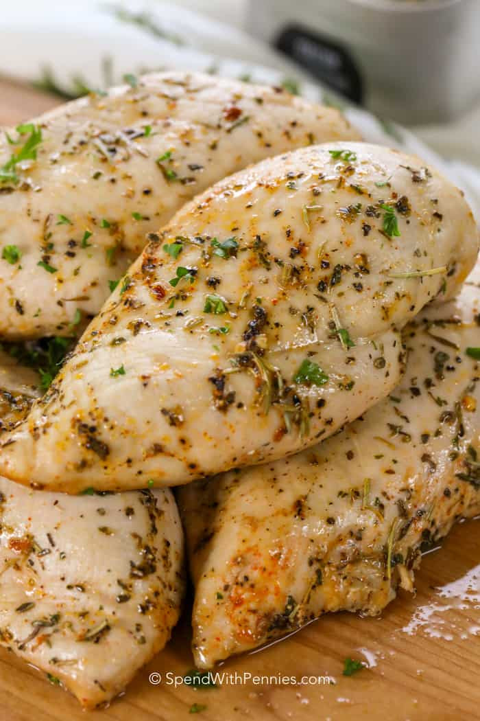 Oven Baked Chicken Breast Recipe Oven Baked Chicken Breasts Spend With Pennies