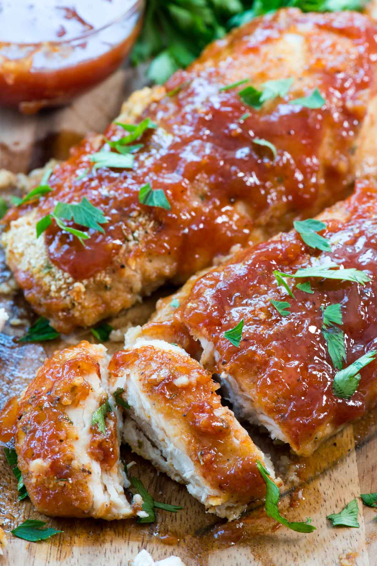 Oven Baked Chicken Recipe  Easy Oven Baked BBQ Chicken Crazy for Crust