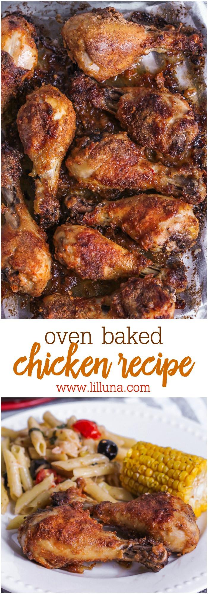 Oven Baked Chicken Recipe  Oven Baked Drumsticks Recipe